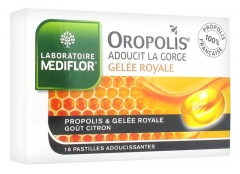 Médiflor Oropolis Royal Jelly Liquid Heart 16 Soothing Lozenges
