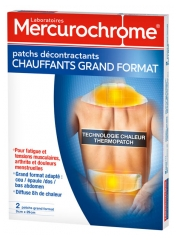 Mercurochrome Heated Relaxing Patches Large Format 9cm x 29cm Pack of 2