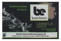 Buvard d'encens Green Cinnamon Incense Booklet 36 Sheets