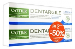 Cattier Dentargile Dentifrice Protection Quotidienne Lot de 2 x 75 ml