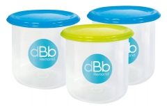 dBb Remond Set de 3 Pots Congélation de 300 ml