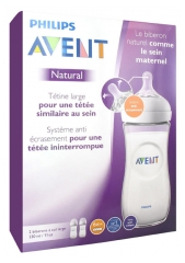 Avent Natural Baby Bottle 330ml 6 Months and + Batch of 2