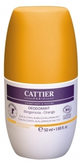 Cattier Roll-On Deodorant Bergamotte Orange Bio 50 ml