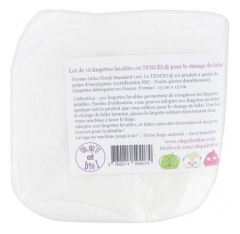 Oh qu'il est bio 10 Washable Wipes in Tencel for the Baby Change