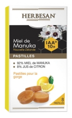 Herbesan Manuka Honey Lozenges Honey Lemon IAA 10+ 8 Lozenges