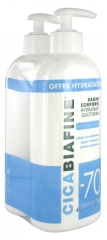CicaBiafine Baume Corporel Hydratant Quotidien Lot de 2 x 400 ml