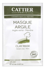 Cattier Green Clay Mask Oily Skin 12.50ml