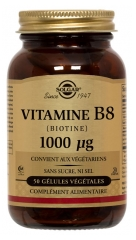 Solgar Biotin 1000mcg (Vitamin B8) 50 Vegetable Capsules