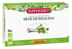 Super Diet Organic Birch Sap 20 Phials