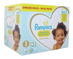 Pampers Premium Protection Maxi Pack 68 Nappies Size 5 (11-16kg)