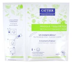 Cattier Detox Cotton Sheet Mask + Purifying and Detoxifying Lotion 15ml