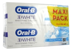 Oral-B 3D White Whitening Therapy Protection Émail Lot de 2 x 75 ml