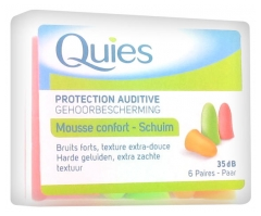 Quies Protection Auditive en Mousse 6 Paires