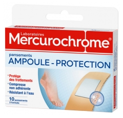 Mercurochrome Ampoule Protection 10 Pansements
