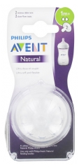Avent Natural 2 Teats Slow Flow 1 Months and +