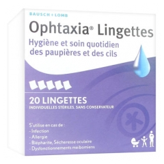 Bausch + Lomb Ophtaxia 20 Wipes