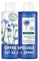 Klorane Eye Make-Up Remover with Cornflower 2 x 200ml