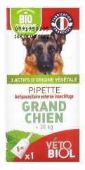 Vétobiol Pipette Grand Chien + de 30 kg 1 Pipette