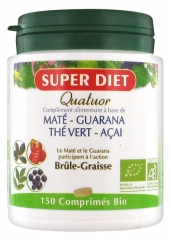 Super Diet Organic Maté Quatuor Fat-Burner 150 Tablets