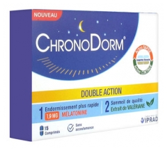 ChronoDorm Doble Acción de Melatonina 1.9 mg Valeriana 15 Comprimidos