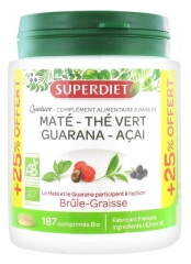 Super Diet Organic Maté Quatuor Fat-Burner 150 Tablets + 37 Tablets Free