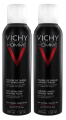Vichy Homme Mousse à Raser Anti-Irritations Lot de 2 x 200 ml