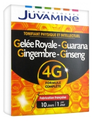 Juvamine Phyto Ginseng Royal Jelly Guarana Ginger 10 Phials