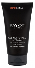 Payot Homme Optimale Gel Nettoyage Intégral Energisant Visage et Corps 200 ml