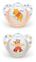 NUK 2 Silicon Soothers Disney Baby 0-6 Months