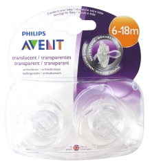 Avent 2 Sucettes Orthodontiques Silicone 6-18 Mois
