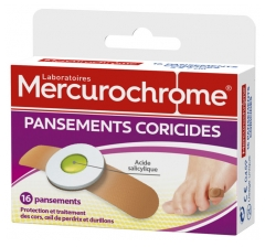 Mercurochrome 16 Pansements Coricides