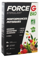 Nutrisanté Force G Organic Stimulant Physical Performances 20 Phials