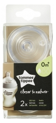 Tommee Tippee Closer to Nature 2 Slow Flow Teats 0 Month and +