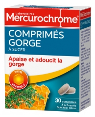 Mercurochome Throat Tablets to Suck 30 Tablets