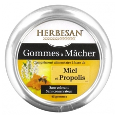Herbesan Propolis Honey Gums to Chew 45 Gums