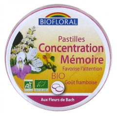 Biofloral Organic Pastilles Fidgety Child Concentration School 50 g