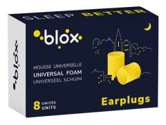 Blox Cylindrical Foam Earplugs x8