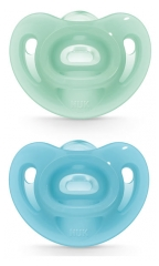 NUK Sensitive 2 Silicone Soothers 0-6 Months
