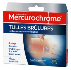 Mercurochrome Burn Tulles and Superficial Wounds 4 Tulles