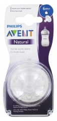 Avent Natural 2 Teats for Thickened Liquids 6 Months+