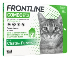 Frontline Combo Spot-On Chats et Furets 3 Pipettes