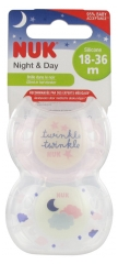 NUK Night & Day 2 Silicone Nipples 18-36 Months