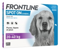 Frontline Spot-On Dog Size L 4 Pipettes