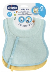 Chicco 2 Breastfeeding and Teething Bibs 0 Month and +