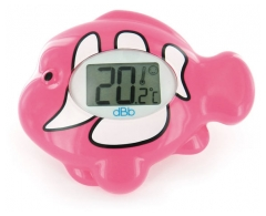 dBb Remond Electronic Bath Thermometer with Bright Screen Pink Fish