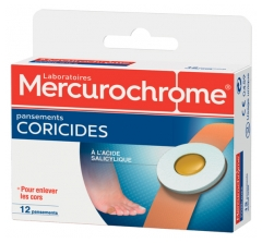 Mercurochrome 12 Pansements Coricides