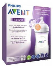 Avent Natural 2 Baby Bottles 260ml 1 Months and +