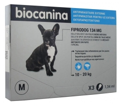 Biocanina Fiprodog 134mg Solution Spot-On Medium Dogs 3 Pipettes of 1,34ml