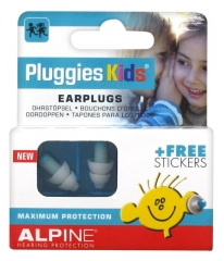 Alpine Hearing Protection Pluggies Kids Earplugs + Free Stickers