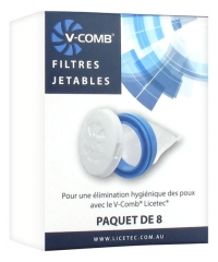 Licetec V-Comb 8 Disposable Filters